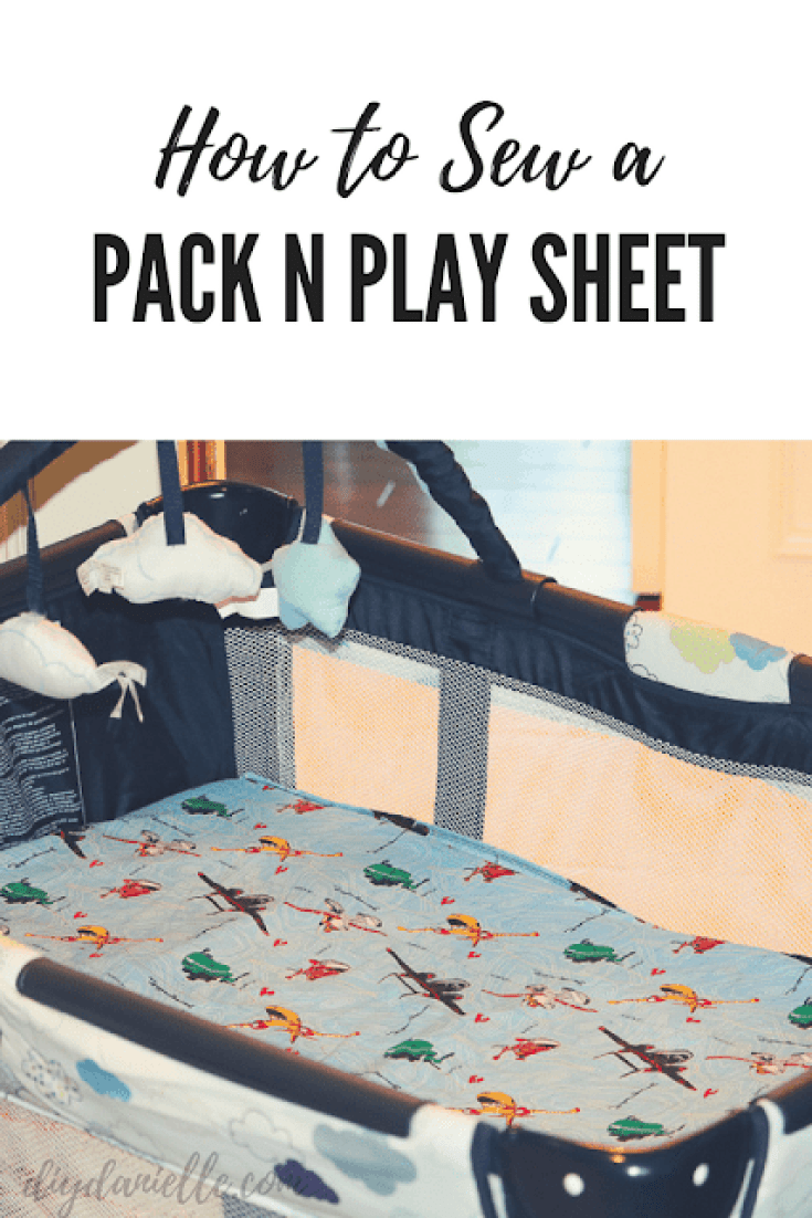 Easy Graco Pack N Play playard sewing tutorial.