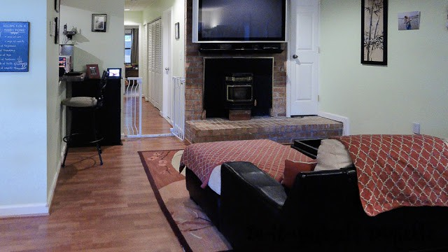 Get the TV off the floor to save space in a condo.