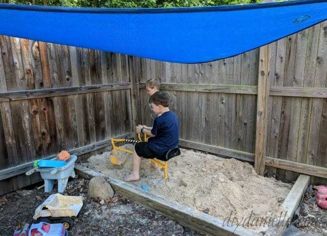 How to Add Shade for a Sandbox: DIY Sandbox Canopy