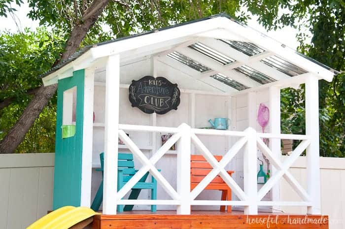 Outdoor playhouse for kids.