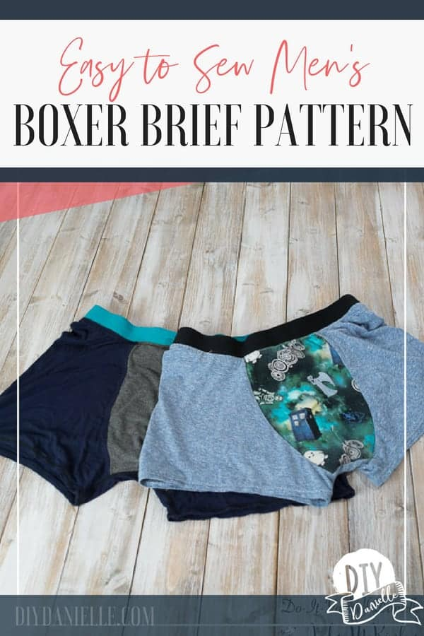 Handmade boxer briefs for men using the Boxerwear pattern from Stitch Upon a Time.