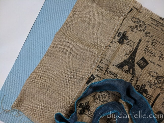 Supplies to make a large muffling mat for a serger.