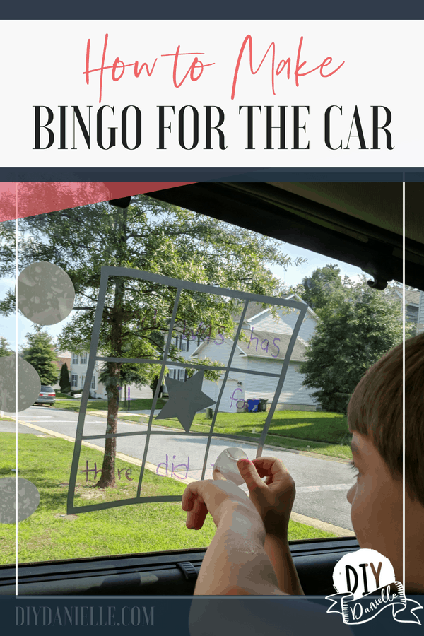 Learn how to make a Bingo game for kids to play in the car! Get children off the electronics and paying attention to their surroundings while you drive!