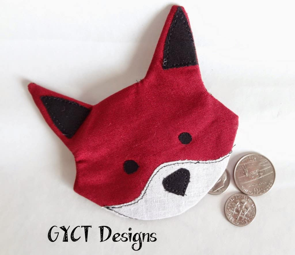 Fox coin pouch for favor at kids party.