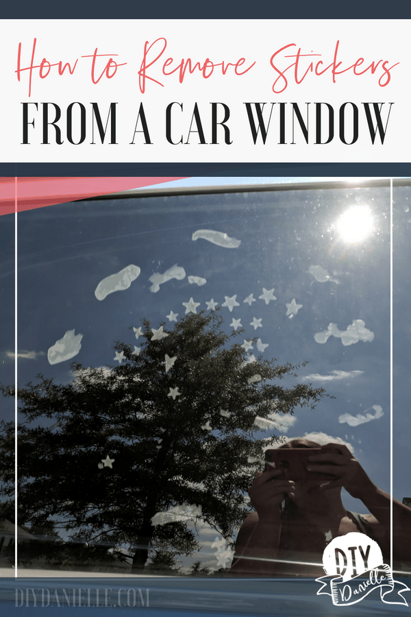 How to remove stickers from a car window. This is easy to teach kids so they can clean up their own mess!