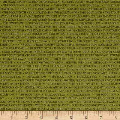 Boy Scout Code Fabric