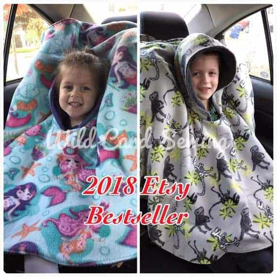 Buy A Car Seat Poncho On Etsy Photo Shared With Permission From Wild Card Sewing
