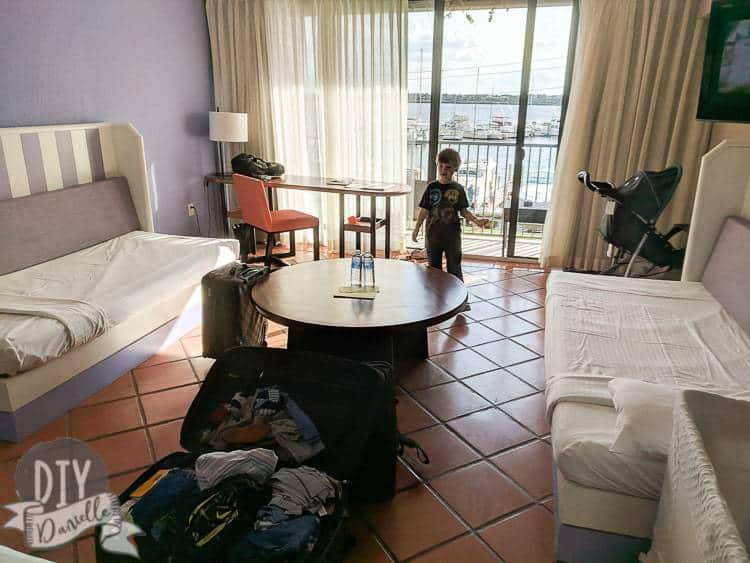 Bedroom for 5 at Club Med Florida.