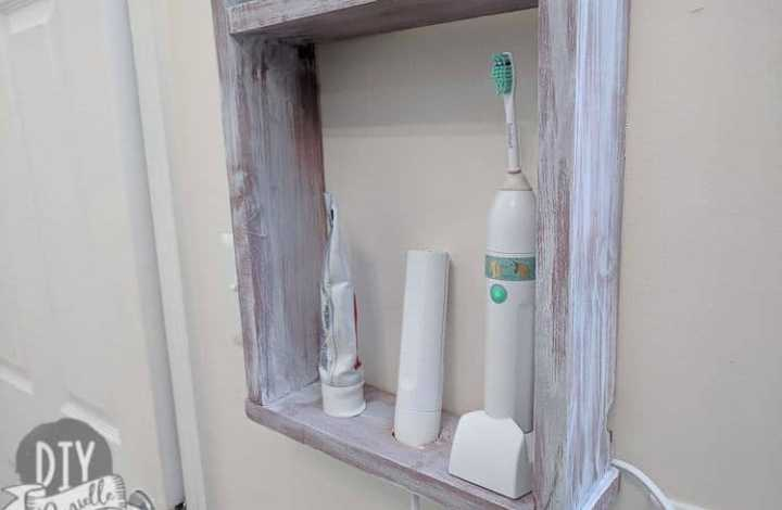 DIY Electric Toothbrush Holder