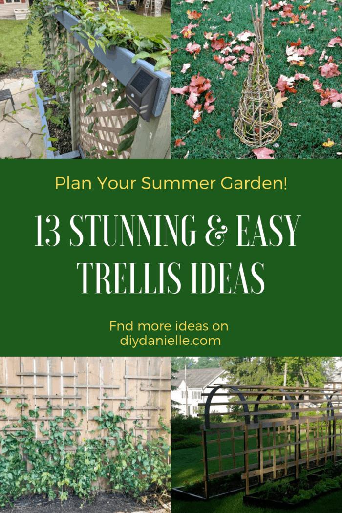 Here are 13 Stunning & Easy Garden Trellis Ideas for 2019!