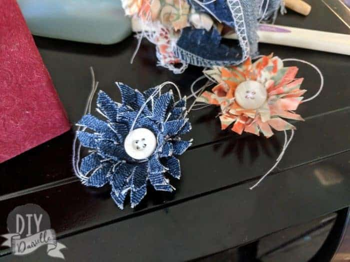 Flowers made from fabric with the Cricut Maker