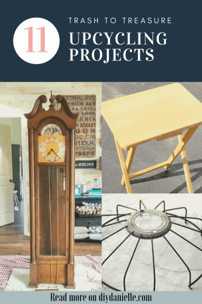 11 Upcycling ideas that turn trash into treasure for your home! The clock makeover is my favorite!