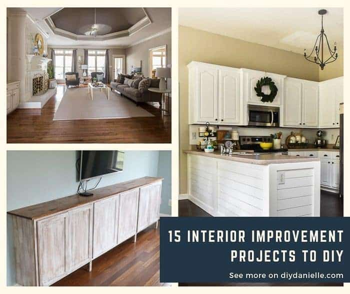 Interior home improvement projects that you can DIY for your home.