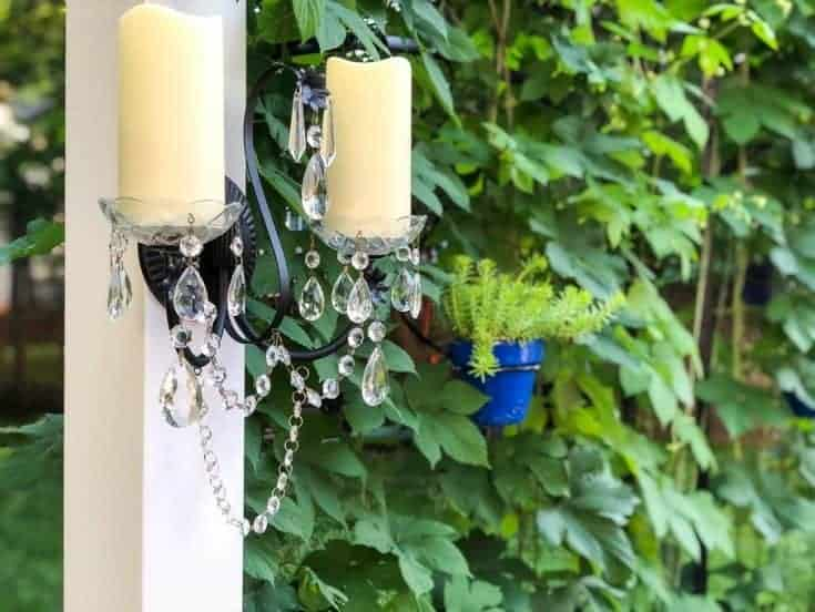 DIY Outdoor Sconces and NEW Pergola - My Kitchen My Craft