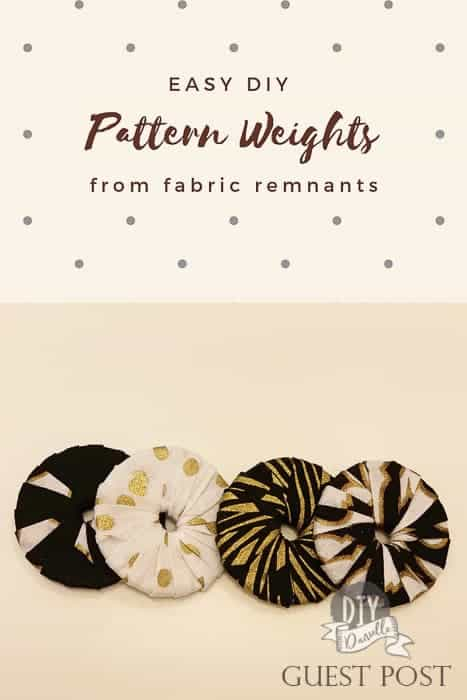 How to use fabric remnants and make easy DIY pattern weights with washers.