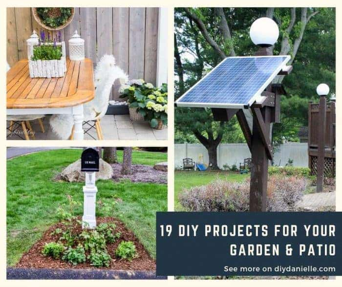 19 Projects for your garden and patio that you can DIY.