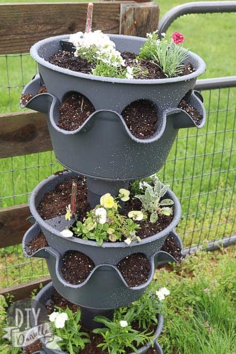 Love this large self watering planter. The Lechuza Cascada Planter is one to three tiers and perfect for flowers, strawberries and herbs.