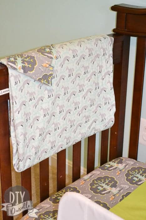 Woodland animal themed bedroom set for crib.