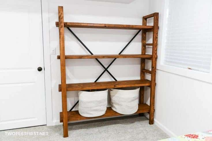 How to build a simple bookshelf: West Elm Knock-Off