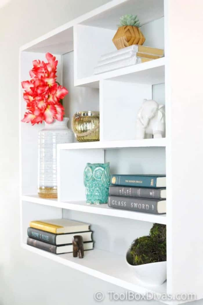 DIY Floating Shelf/Bookshelf /Bookcases with changeable backing