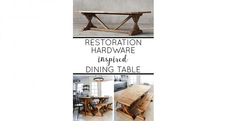 Restoration Hardware Inspired Dining Table