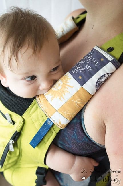 Learn how to make some custom DIY Teething Pads for your Ergo or other baby carrier.