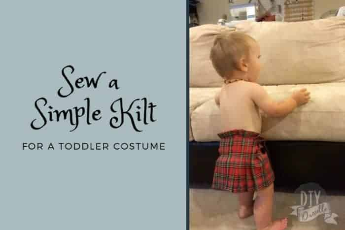 How to sew a simple kilt for a toddler.