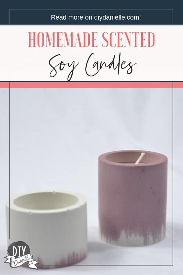 Homemade scented soy candles are a perfect gift.