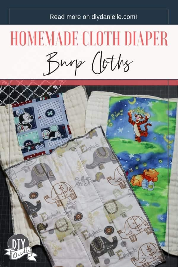 Learn how to make your own homemade burp cloths using old cloth diapers.