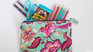 Back to school DIY Pencil Case with lining - Sewing Tutorial