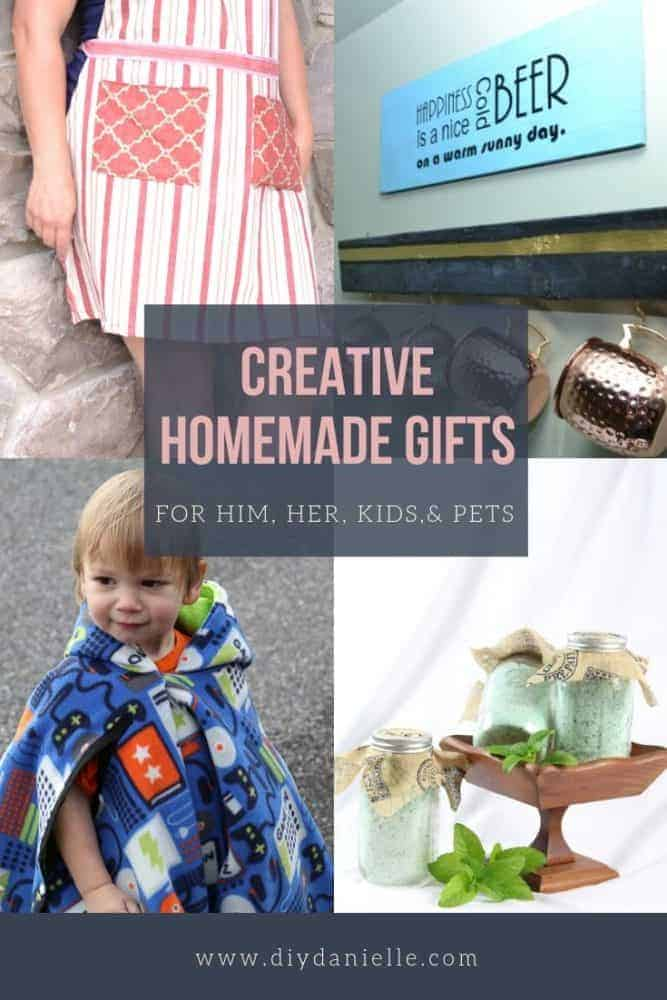 Creative homemade gifts for him, her, kids, and pets. Get new ideas each week!