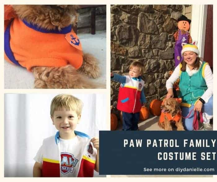 Family Paw Patrol Costume set. Easy Halloween costume to make!