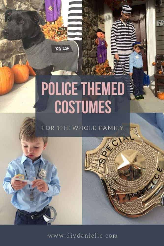 Family costume idea: Cops & Robbers (plus a K9 cop!)