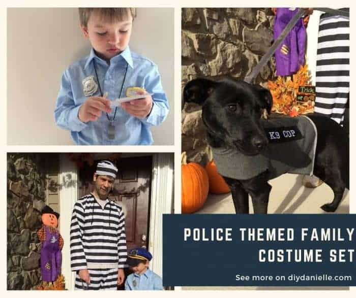 Family police themed costume set.