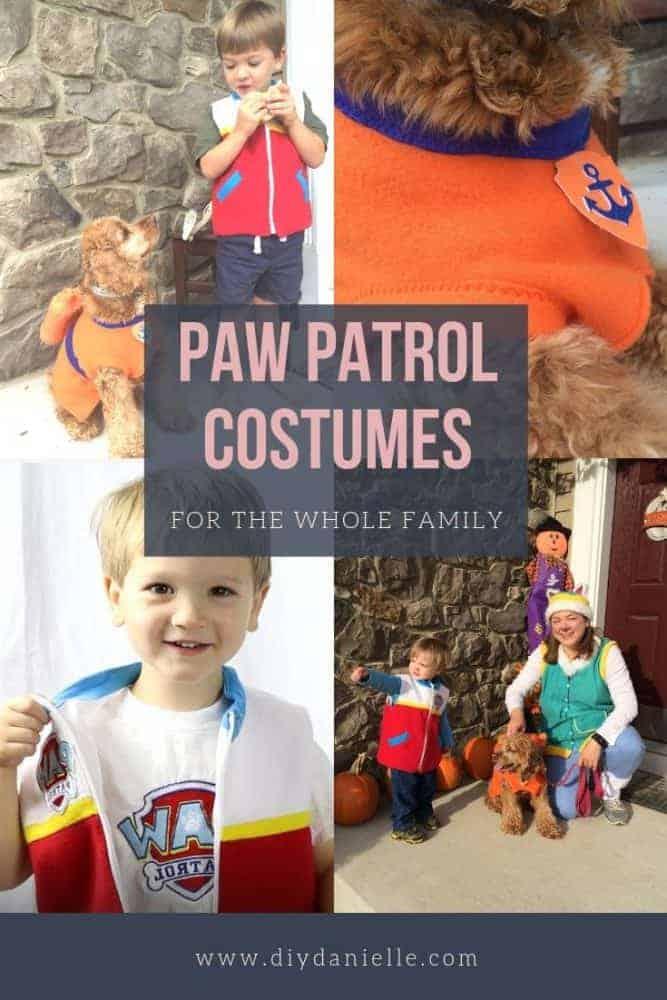 Paw Patrol family costume set. All handmade by mom.