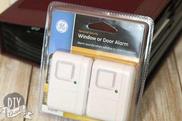 Cheap window or door alarm is easy to repurpose to use as a refrigerator or freezer door alarm.