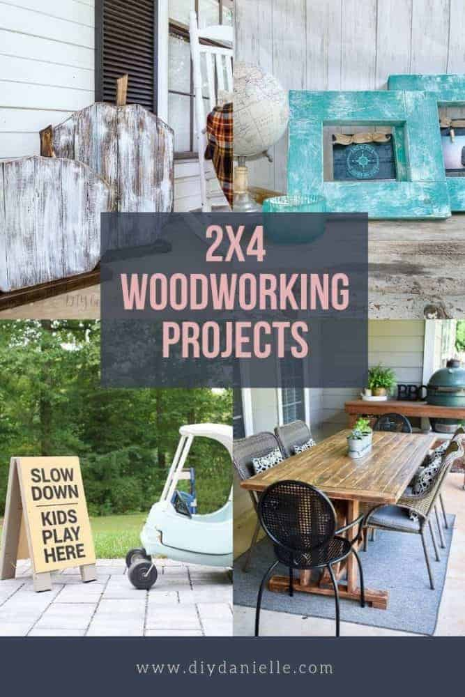 2x4 Projects: Ideas for Large Projects and for scrap pieces of 2x4s too!