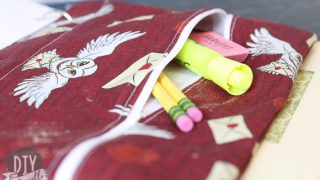 DIY Pencil Case with Grommets for Binder