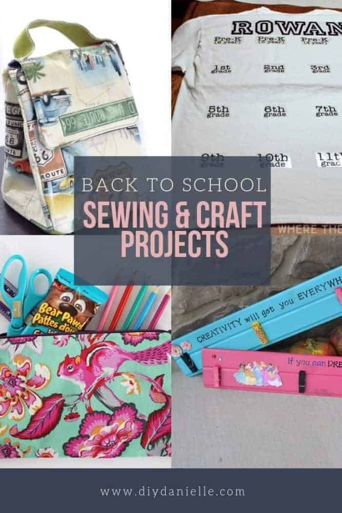 Back to school craft and sewing projects to make NOW!