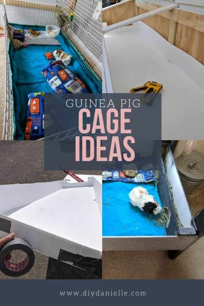 Cage ideas for guinea pigs. Here are some cages you can make or buy for your cavy. Tips for cage setup.