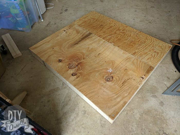Used leftover plywood for the floor of the frame.