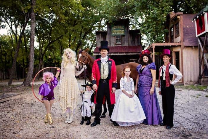The best The Greatest Showman family group costume ever!