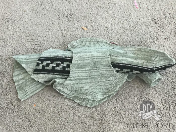 Crotch pieces with main part of underwear sandwiched between.