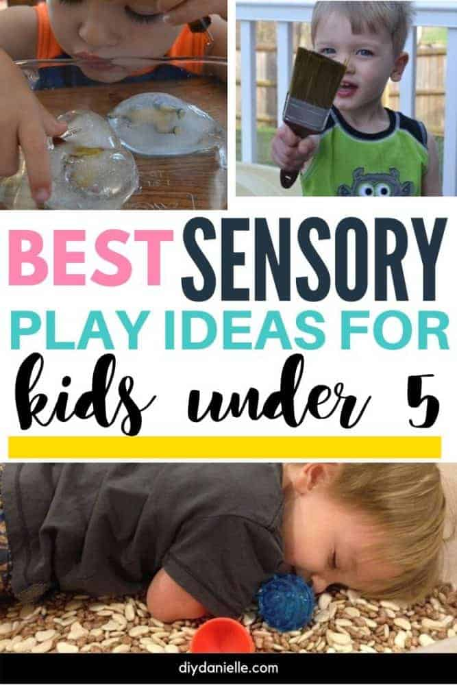 Best sensory play ideas for kids under 5! Check out these fun ideas for your baby, toddler, or preschooler.