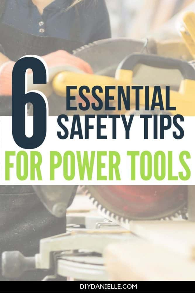 Safety tips to keep in mind when you're using power tools. It's so important to be safe when you're woodworking!