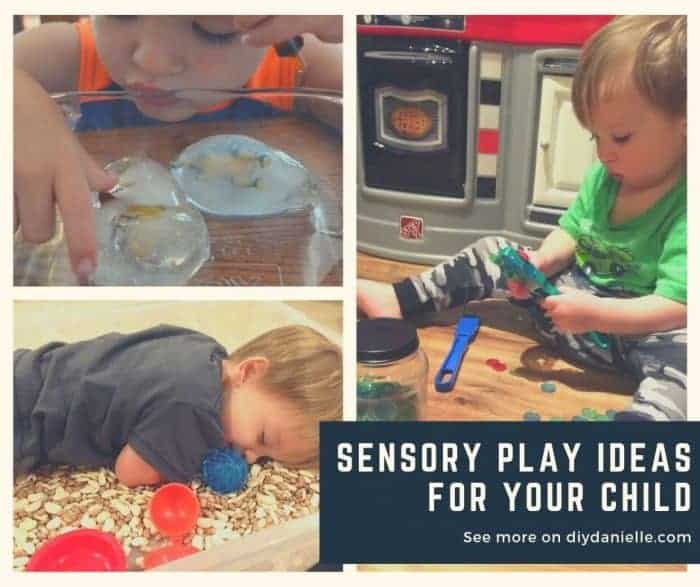 A few sensory play ideas for you and your child, and how to integrate them into your day.