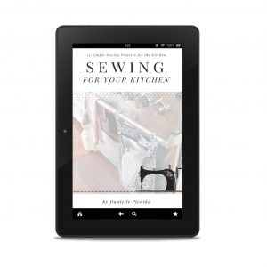 Sewing projects for kitchen: eBook. Mockup with tablet.