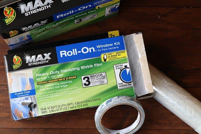 Duck Max Strength Roll-On Window Kit: Heavy Duty Insulating Shrink Film.