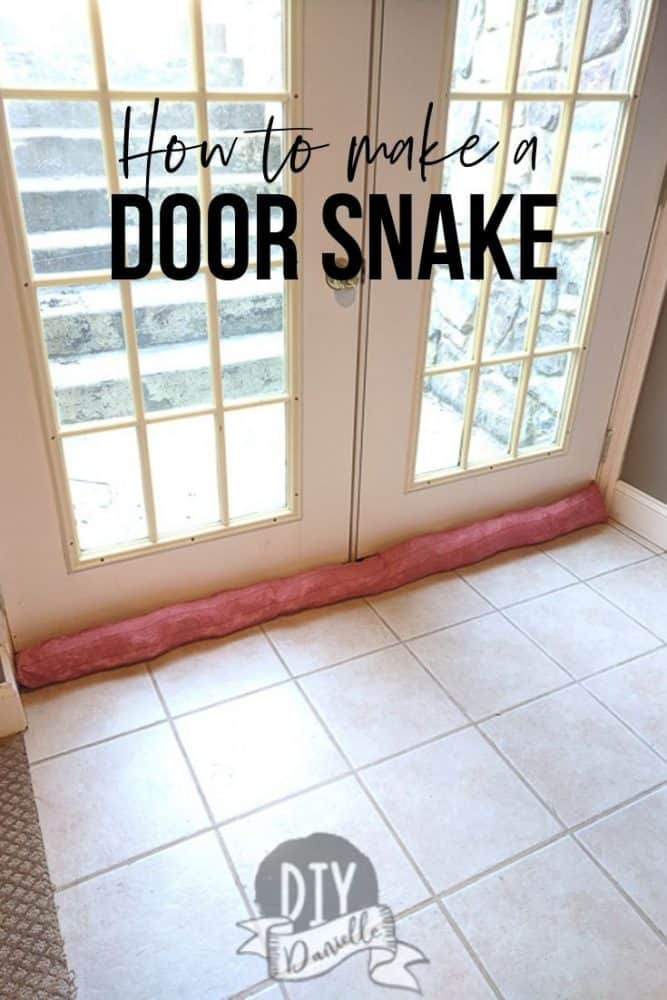 How to make a door snake to help prevent drafts in your home. This is an easy sew to reduce your electric costs!