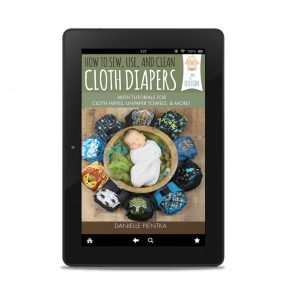 Photo of the book How to Sew Cloth Diapers on a tablet as an ebook (mockup)